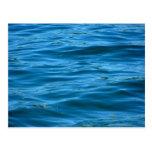 Água azul do oceano cartão postal