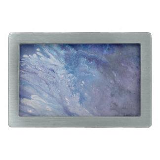 Água branca azul triste da onda da pintura do