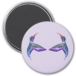 Aguarela abstrata do colibri imã