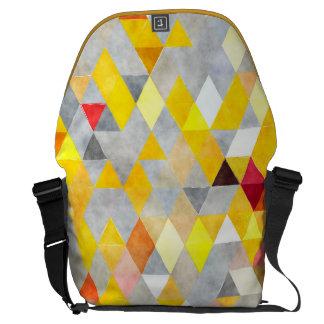 Aguarela amarela e cinzenta da trouxa da bolsa bolsas mensageiro