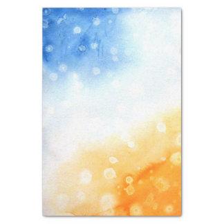 Aguarela azul e amarela papel de seda