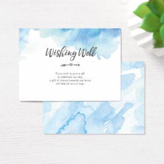 Aguarela azul elegante que deseja o cartão bom