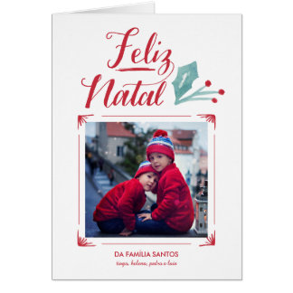 Aguarela & Caligrafia | Feliz natal Cartão Comemorativo