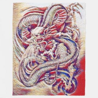Aguarela chinesa do dragão cobertor de lã