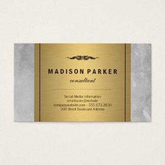 Aguarela cinzenta etiqueta elegante escovada do cartão de visitas
