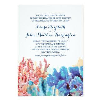 Aguarela colorida | dos recifes que Wedding Convite Personalizados