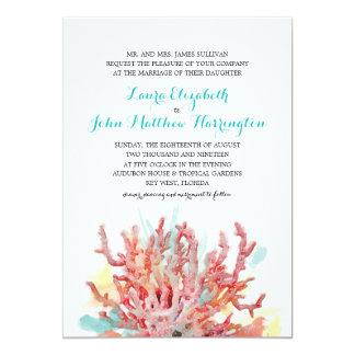 Aguarela colorida | dos recifes que Wedding Convite