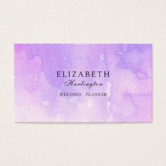 Aguarela cor-de-rosa e roxa. Cartão da lavanda.