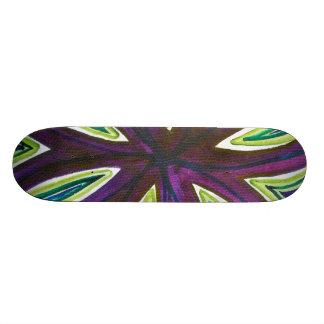 Aguarela corajosa de símbolos da infinidade do shape de skate 18,7cm