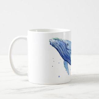 Aguarela da baleia de Humpback que pinta a caneca