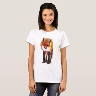 aguarela da raposa camiseta