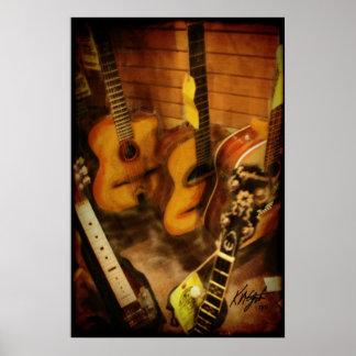 Aguarela das guitarra pôster
