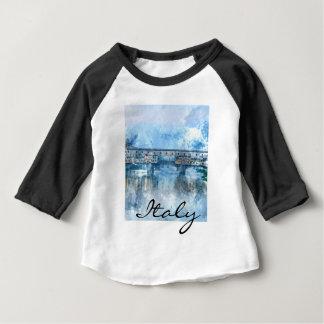 Aguarela de Florença Italia Camiseta Para Bebê
