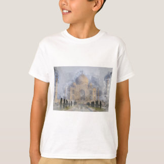 Aguarela de Taj Mahal Camiseta