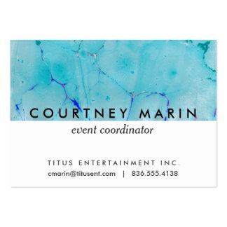 Aguarela do abstrato da pintura do mármore da modelos cartão de visita