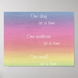 Aguarela do arco-íris um dia em um poster do tempo