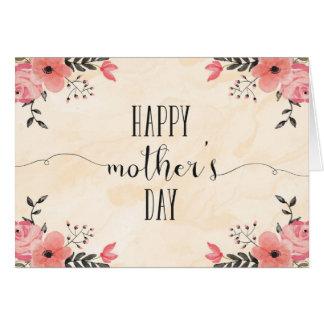 Aguarela do cartão do dia das mães das flores