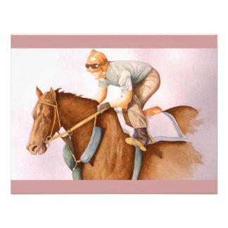 Aguarela do cavalo de corrida convites
