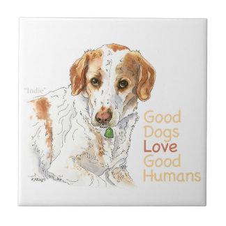 Aguarela dos seres humanos do bom amor dos cães