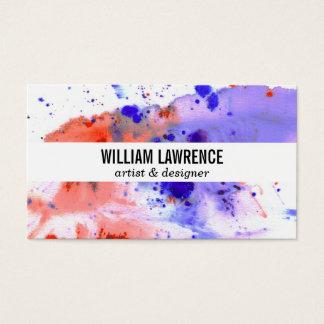 Aguarela | expressivo cartão de visitas