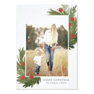 Aguarela festiva com cartões de foto de Natal