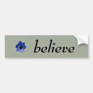 Aguarela floral azul Playfully bonita Adesivo Para Carro