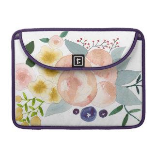 Aguarela floral bolsas para MacBook