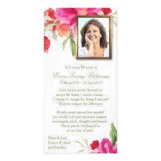 Aguarela floral & cartões de agradecimentos da