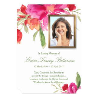 Aguarela floral & cartões de agradecimentos do