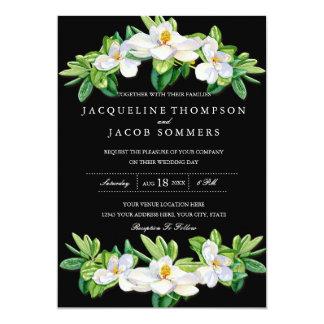 Aguarela floral da grinalda da flor moderna da convite 12.7 x 17.78cm