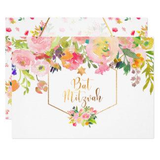 Aguarela floral de PixDezines/peônias/bastão Convite 12.7 X 17.78cm