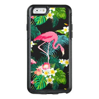 Aguarela floral do flamingo cor-de-rosa tropical