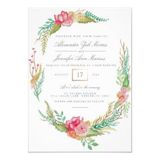Aguarela floral | do primavera que Wedding Convite 12.7 X 17.78cm