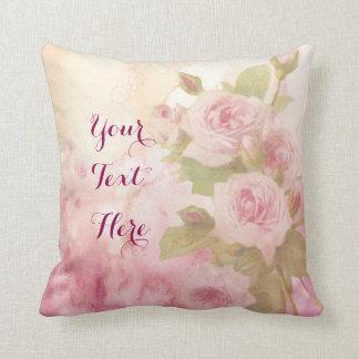 Aguarela floral dos rosas cor-de-rosa macios almofada