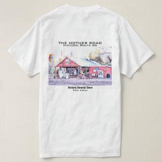 Aguarela histórica da loja geral da arizona da camiseta