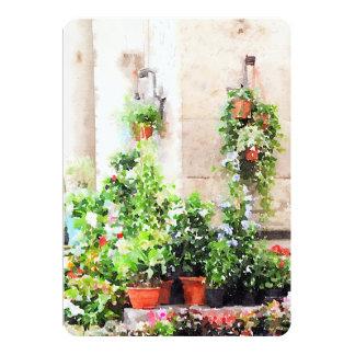 Aguarela italiana mercado pintado da flor convite 12.7 x 17.78cm