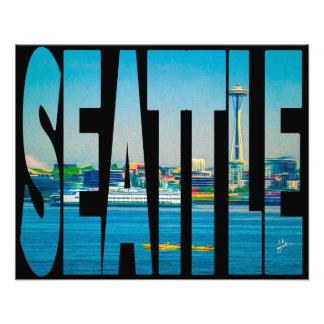 Aguarela moderna da tipografia da foto da skyline