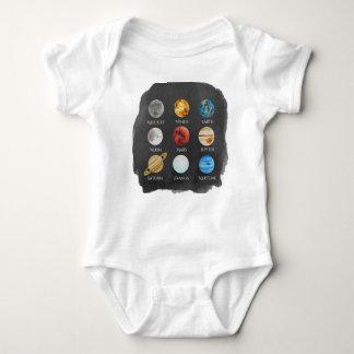 Aguarela Onsie do sistema solar Body Para Bebê