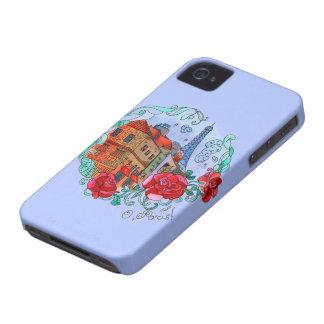 Aguarela Paris Capas Para iPhone 4 Case-Mate