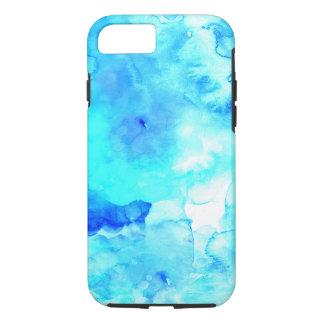 Aguarela pintado mão do mar azul moderno do verão capa iPhone 7