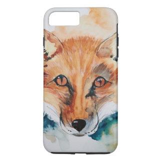 Aguarela que pinta o mamífero abstrato selvagem do capa iPhone 7 plus