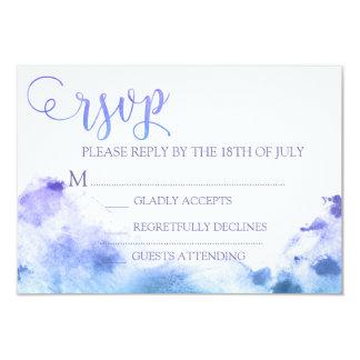 Aguarela que Wedding a resposta do cartão da Convite 8.89 X 12.7cm
