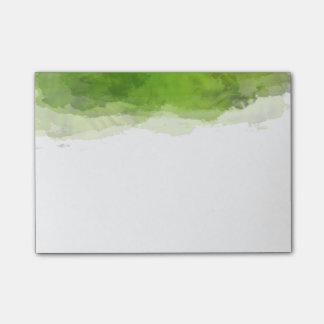 Aguarela verde post-it notes