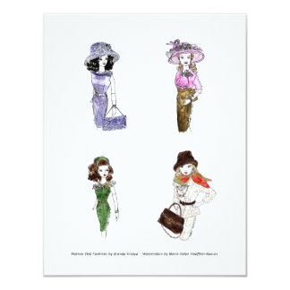 Aguarelas 3 da forma da boneca de Matisse Convite 10.79 X 13.97cm