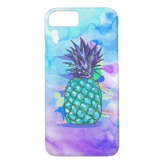 Aguarelas & abacaxi roxos & azuis de Posterized Capa iPhone 7
