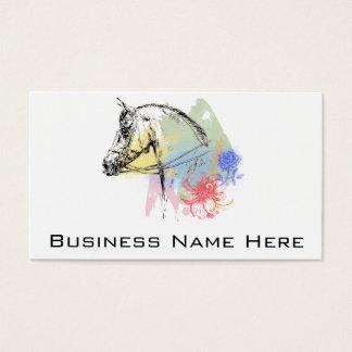 Aguarelas da cabeça de cavalo cartão de visitas
