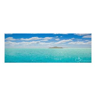Águas azuis do Cal novo: Poster para alguma parede Impressão De Foto