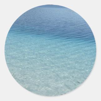 Águas claras adesivo em formato redondo
