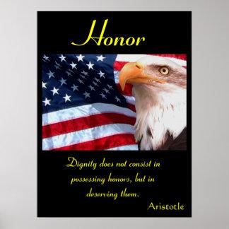 Águia 10 dos posters da honra