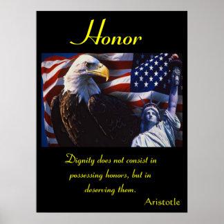 Águia 14 dos posters da honra